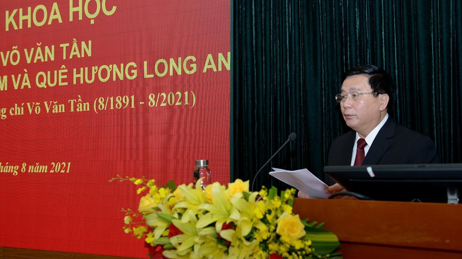Hội thảo trực tuyến kỷ niệm 130 năm ngày sinh đồng chí Võ Văn Tần