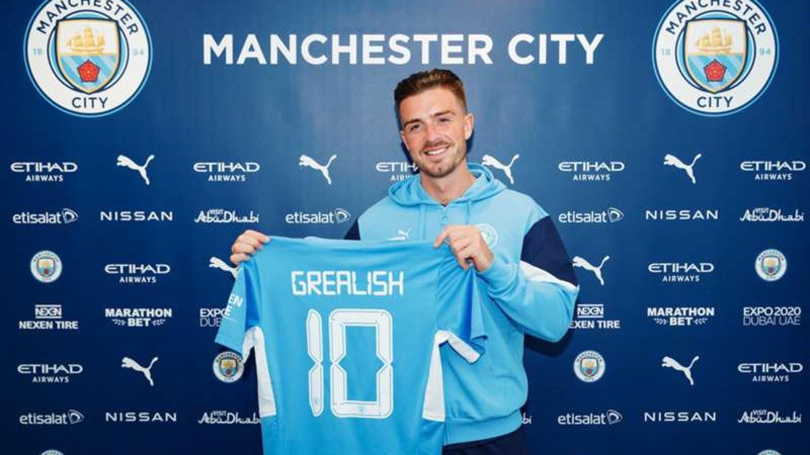 """Man City chính thức công bố """"bom tấn"""" Jack Grealish"""
