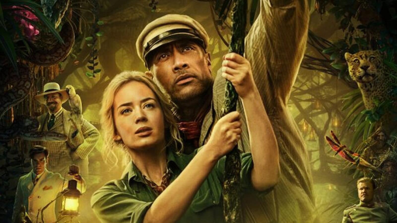 """Phim """"Jungle Cruise"""" của The Rock và Emily Blunt dẫn đầu doanh thu phòng vé"""