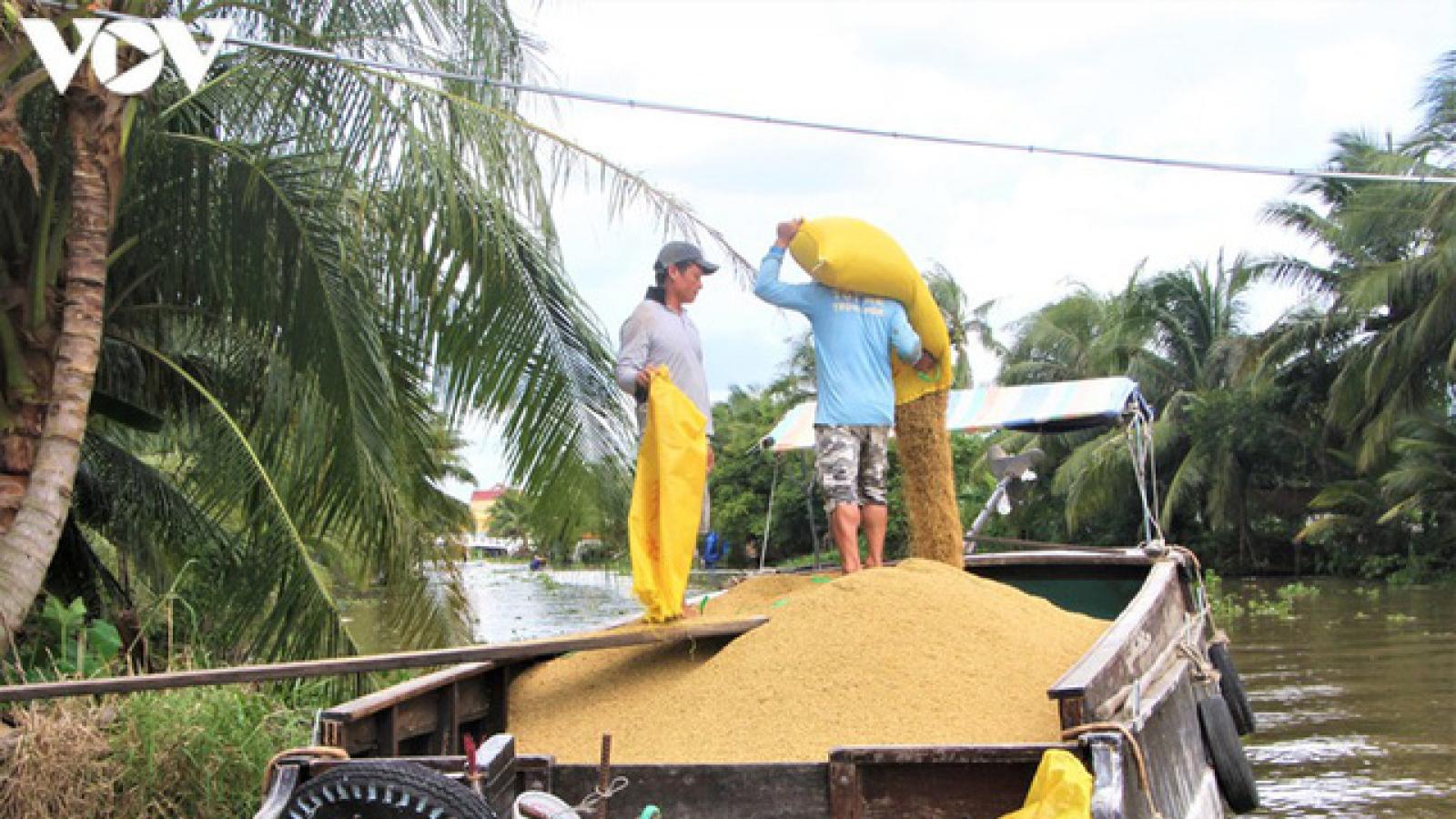 """Khơi thông""""luồng xanh"""" đường thủy, đảm bảo việcthu mua lúa gạo cho bà con"""
