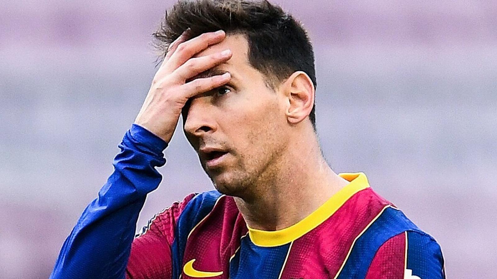 Lionel Messi bị sốc vì không thể ký hợp đồng mới với Barca