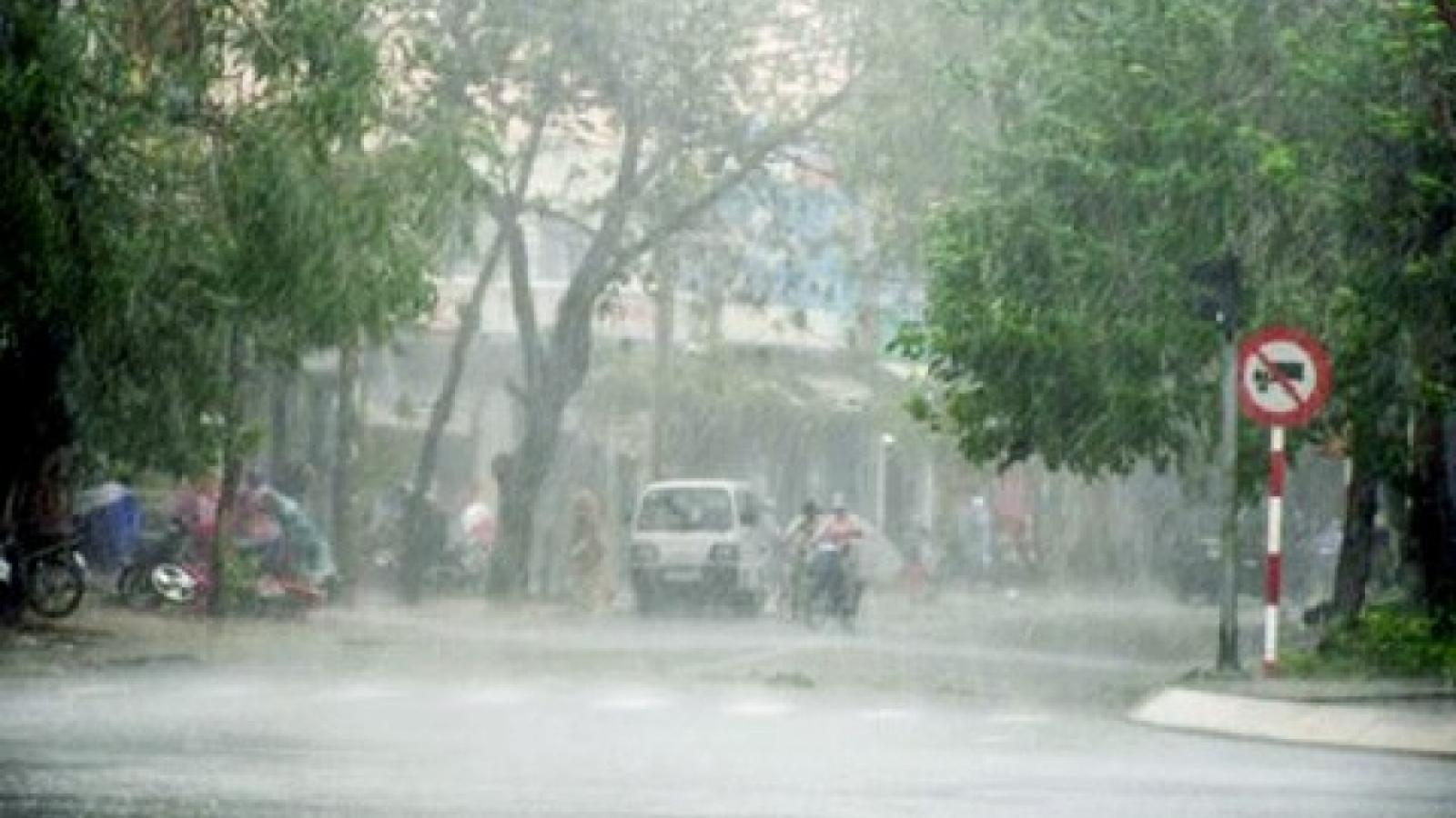 Mưa rào và dông tại một số nơi ở Hà Nội trong vài giờ tới