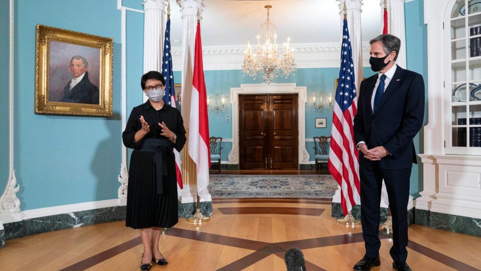 """Mỹ và Indonesia cam kết bảo vệ Biển Đông trong """"đối thoại chiến lược"""""""