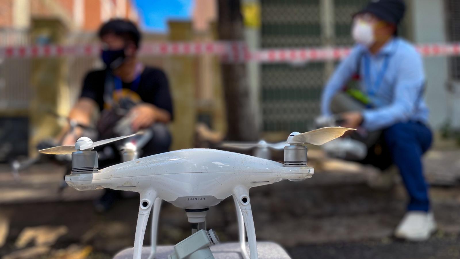 """Đà Nẵng thí điểm sử dụng flycam giám sát người dân thực hiện """"ai ở đâu thì ở đó"""""""