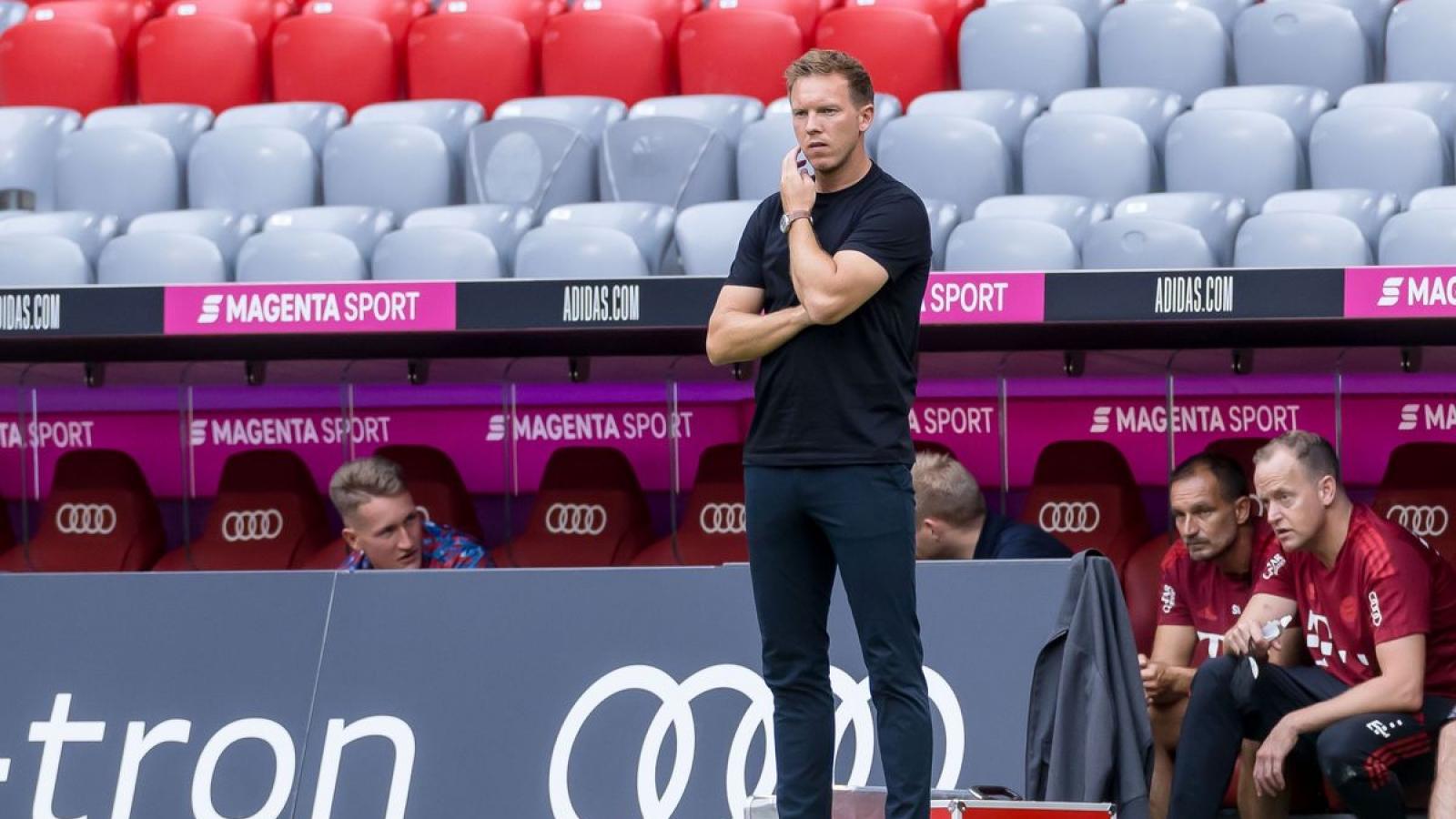 Bayern Munich 5 trận không thắng, HLV Nagelsmann thừa nhận thực tế khó khăn
