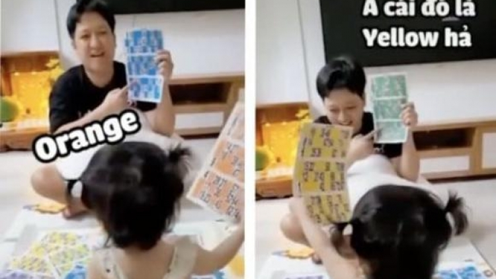 """Video: Con gái Nhã Phương - Trường Giang trổ tài """"bắn"""" tiếng Anh"""