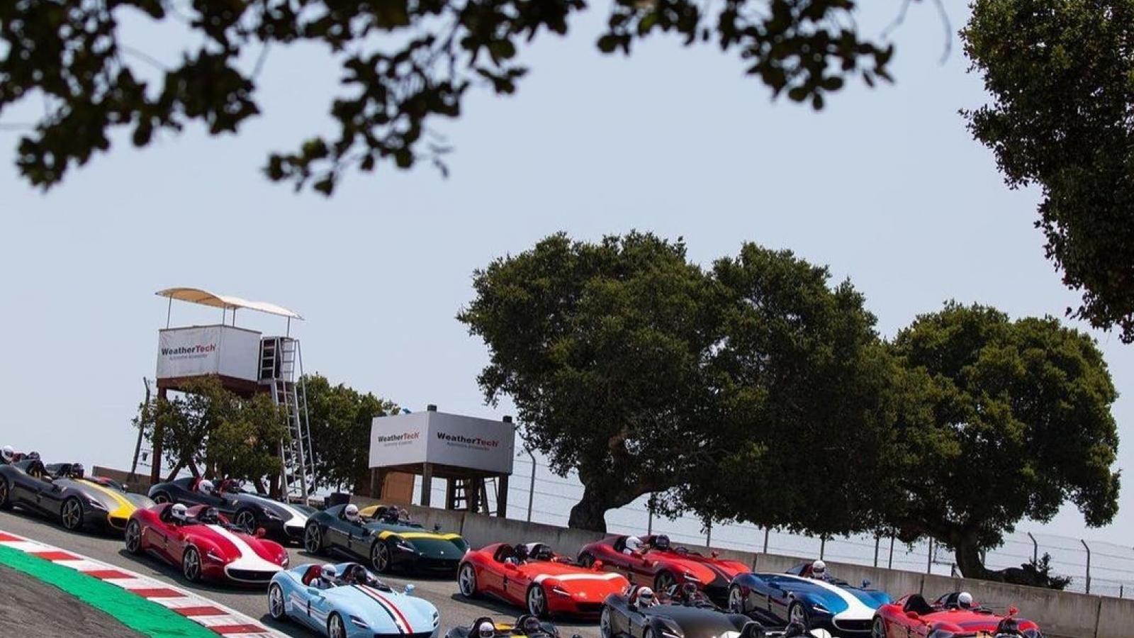 Hình ảnh hơn 30 chiếc Ferrari Monza tụ họp tại sự kiện siêu xe lớn nhất thế giới