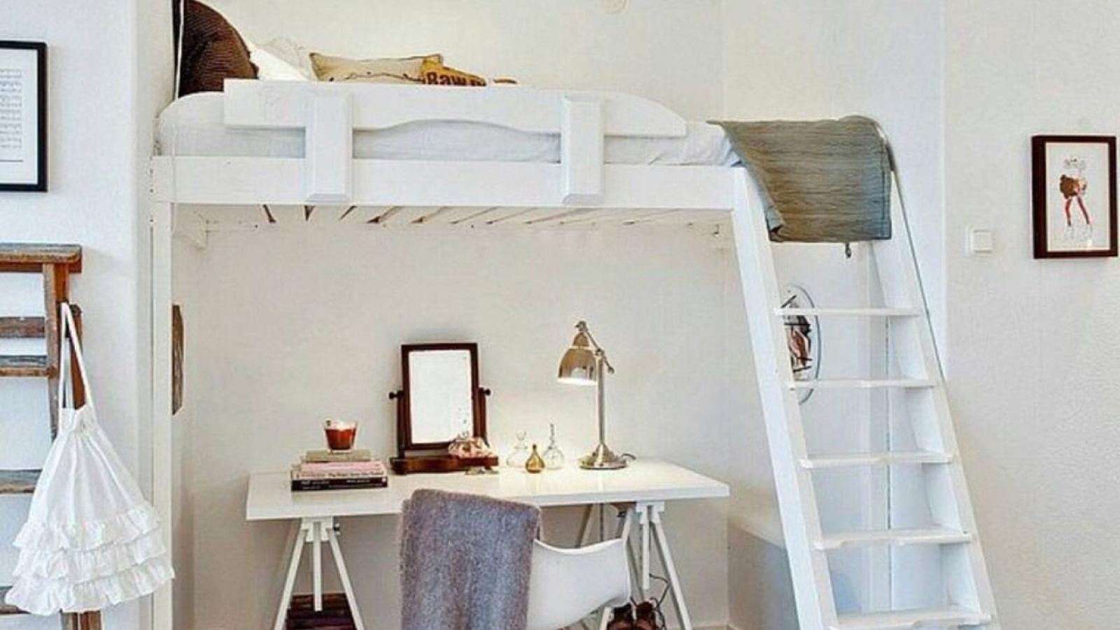 Hô biến phòng ngủ nhỏ trở nên rộng rãi