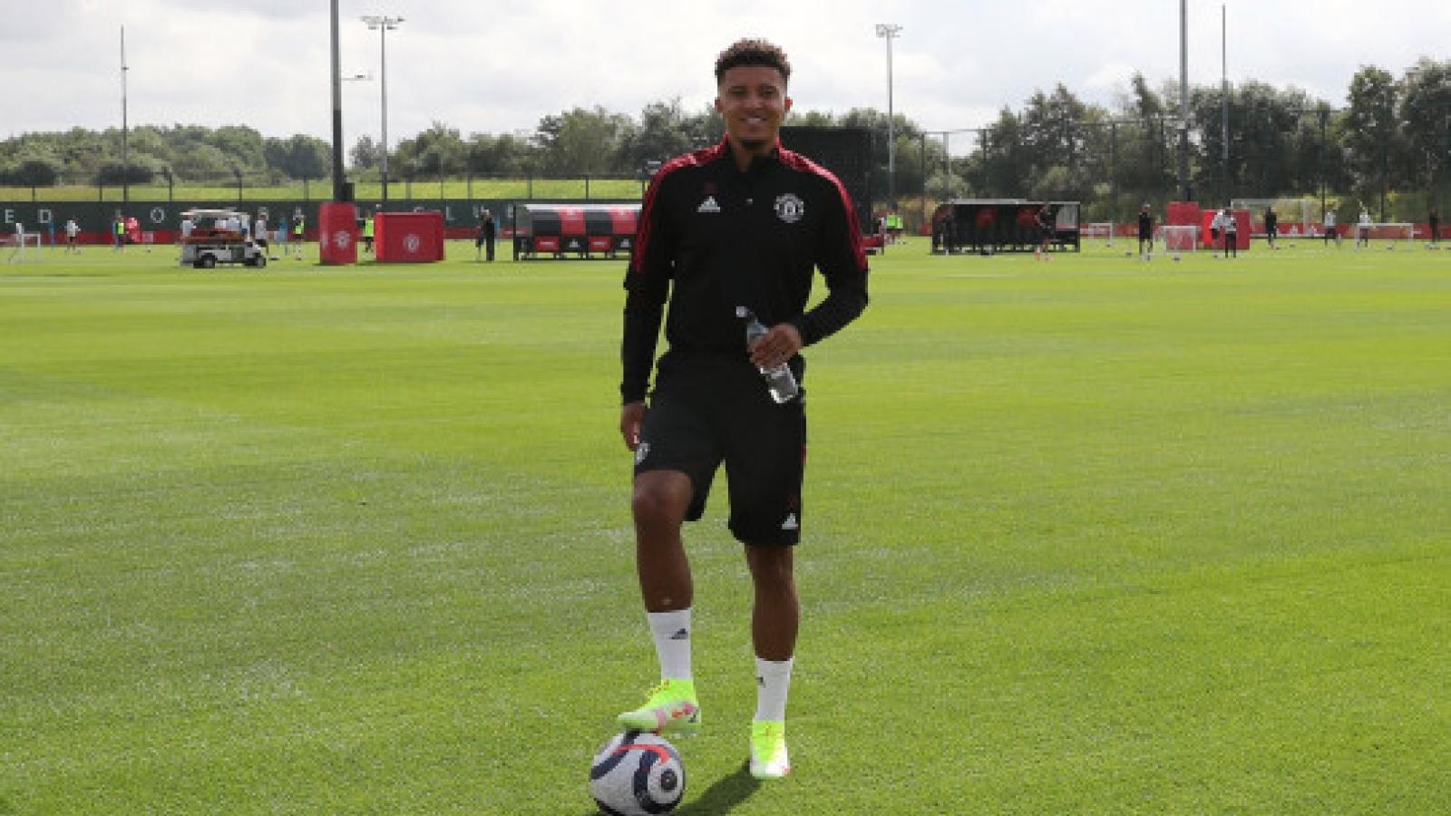 Sancho có thể đá trận ra mắt MU ở vòng 1 Ngoại hạng Anh