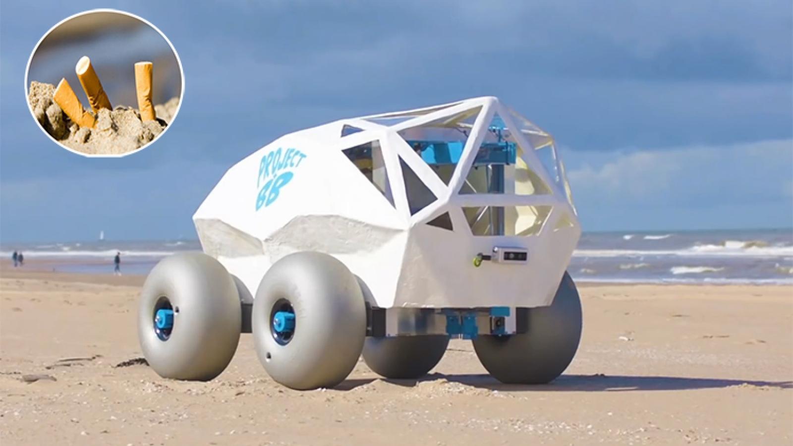 Robot AI nhặt đầu lọc thuốc lá trên bãi biển – giải pháp mới giúp bảo vệ môi trường