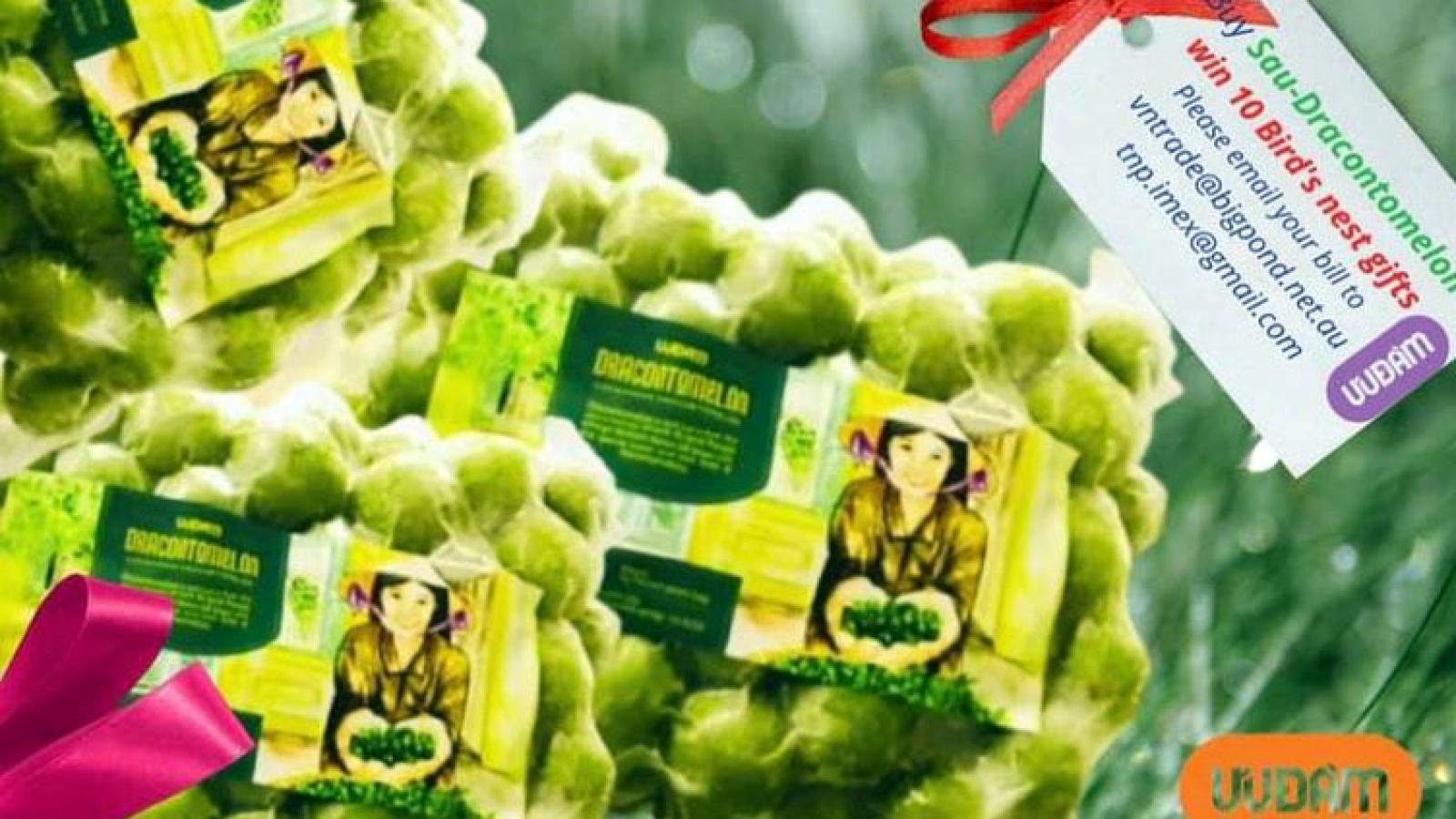 Quả sấu đông lạnh Việt Nam được bán 18 AUD/kg tại Australia