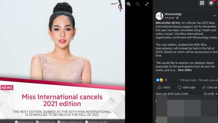 Miss International 2021 cancelled due to COVID-19