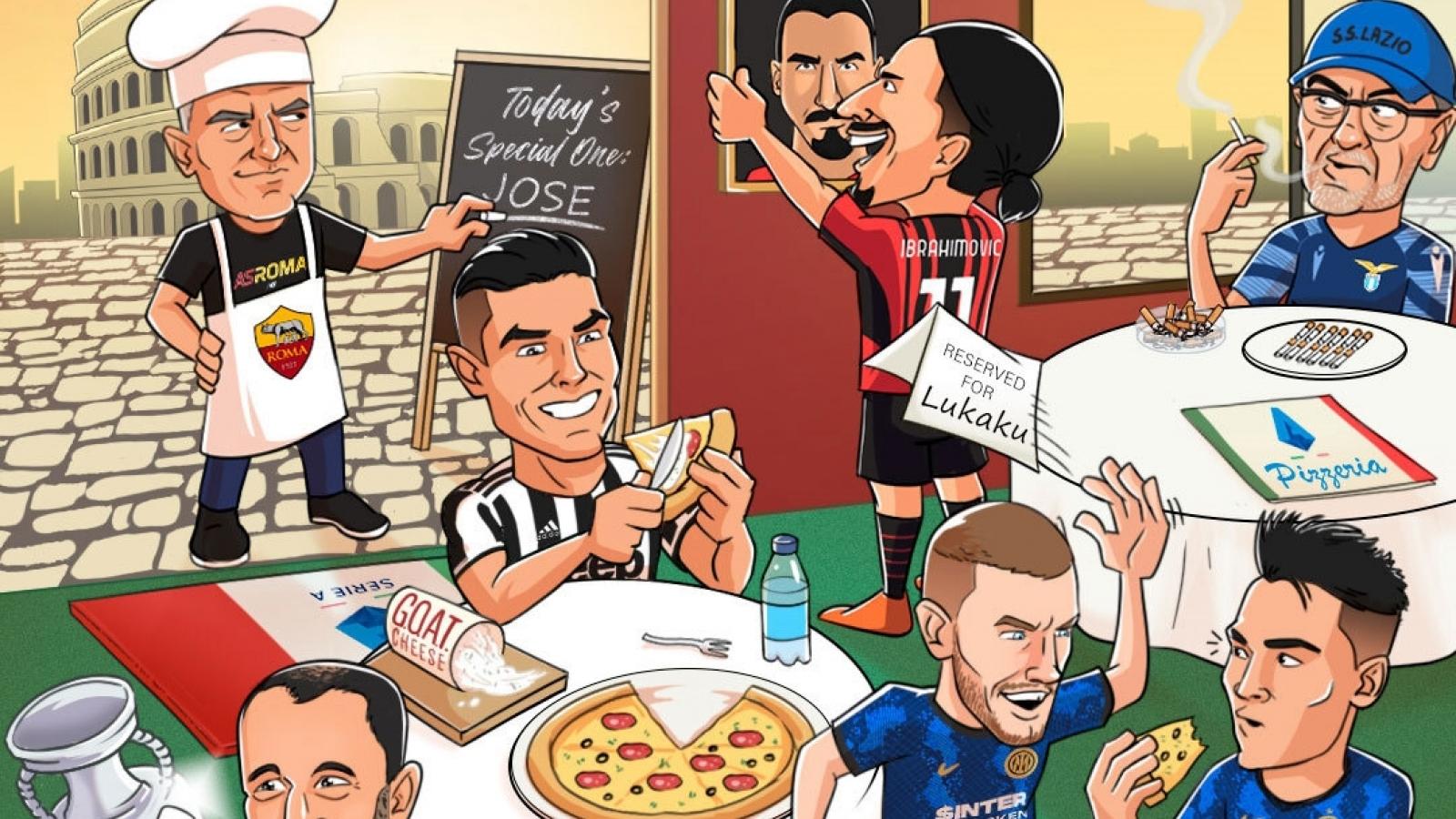 Biếm hoạ 24h: Mourinho và Ronaldo mang tới bữa tiệc thịnh soạn ở Serie A