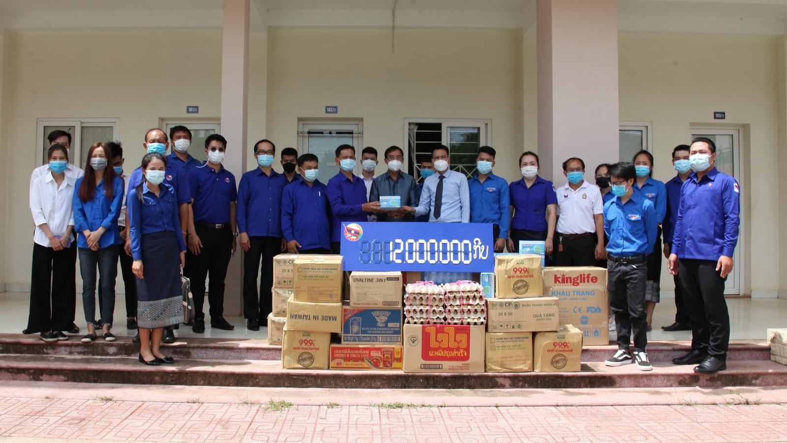 Đoàn Thanh niên Lào hỗ trợ sinh viên Việt Nam phòng chống covid-19