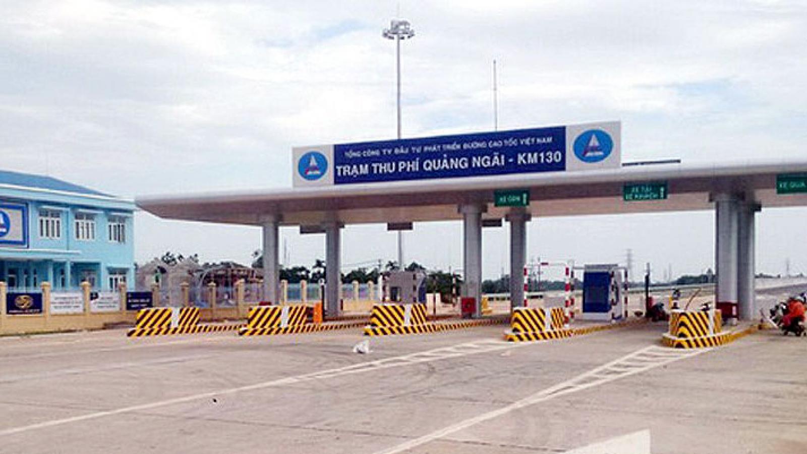 Tạm dừng thu phí thêm 2 trạm trên cao tốc Đà Nẵng - Quảng Ngãi