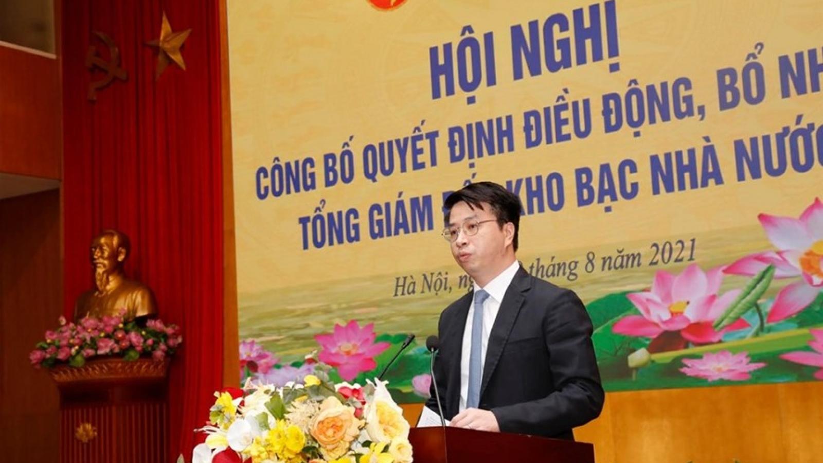 Chánh Văn phòng Bộ Tài chính giữ chức Tổng Giám đốc Kho bạc Nhà nước