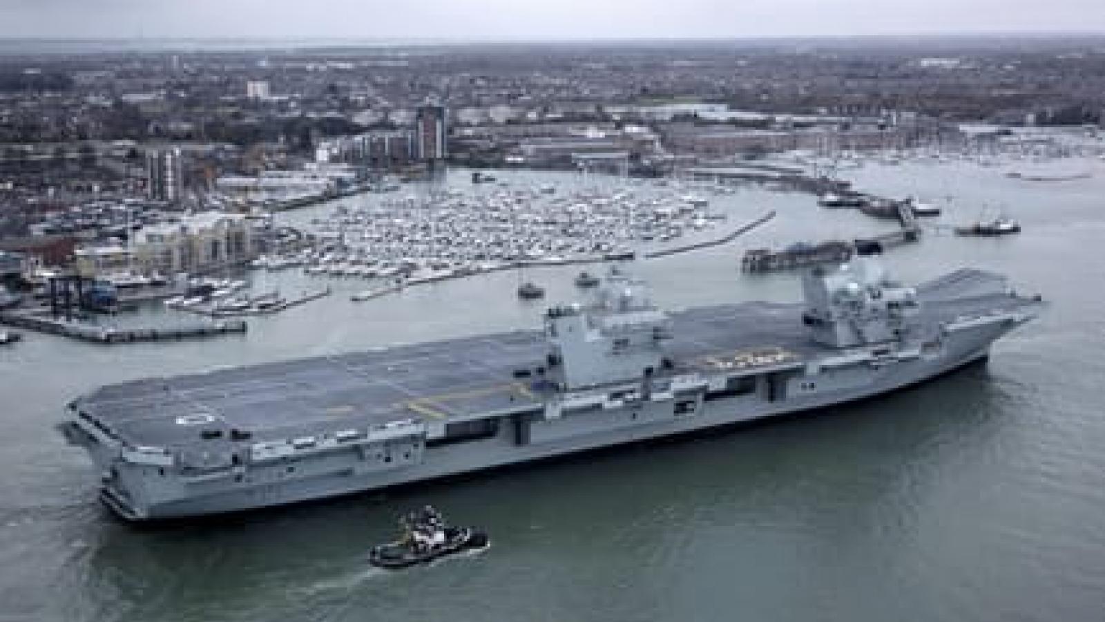 Nhật, Mỹ, Anh và Australia tập trận với sự tham gia của tàu sân bay HMS Queen Elizabeth
