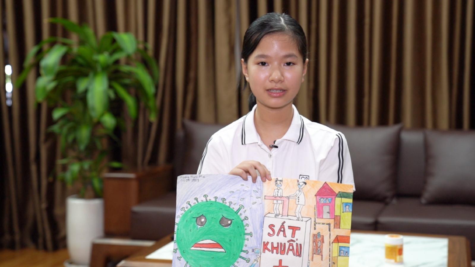 """""""Vì một Việt Nam tất thắng"""" - món quà ý nghĩa tiếp sức chống dịch của các bệnh nhi"""