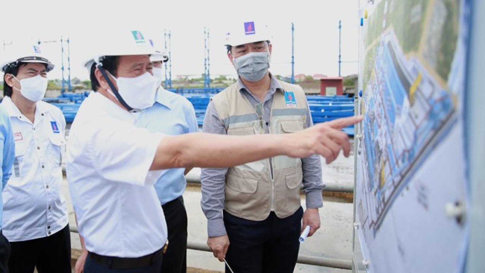 Phó Thủ tướng Lê Văn Thành kiểm tra tiến độ xây dựng Nhà máy Nhiệt điện Thái Bình 2
