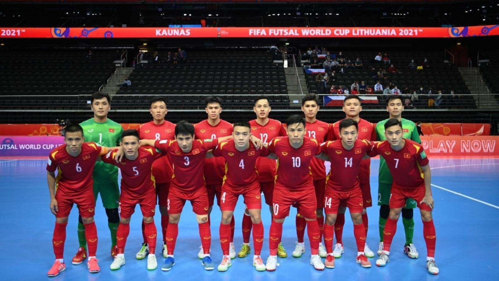ĐT Việt Nam đối đầu ĐT Nga ở vòng 1/8 Futsal World Cup 2021
