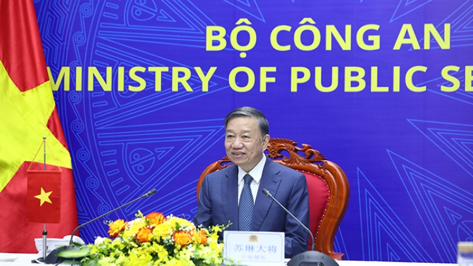 Bộ trưởng Tô Lâm hội đàm với Bí thư Ủy ban Chính pháp Trung Quốc Quách Thành Côn