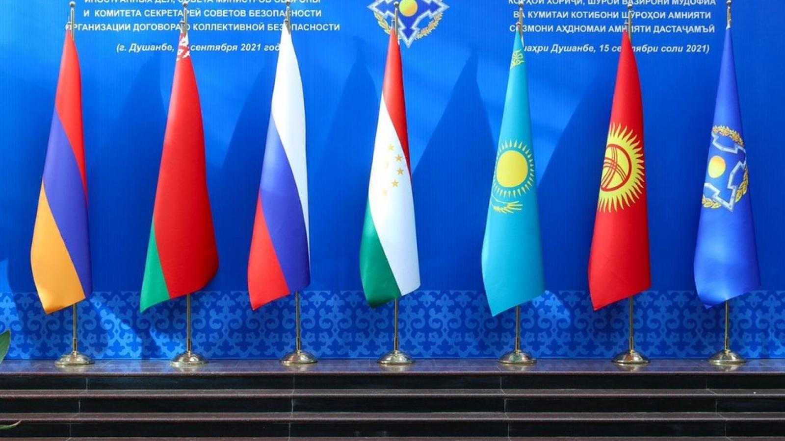 CSTO thỏa thuận thành lập các cơ quan quân sự chung