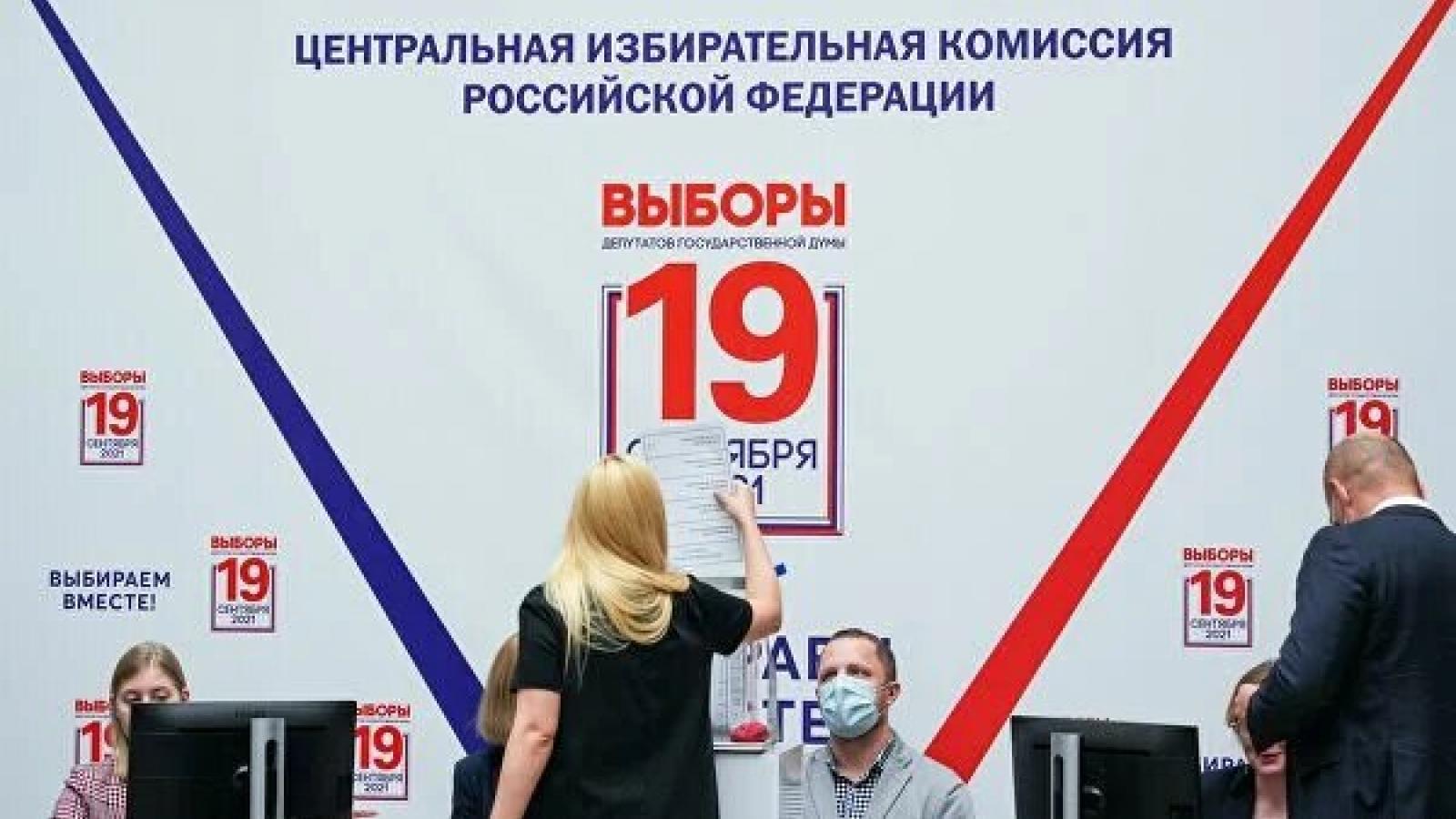 Cuộc bầu cử vào Duma Quốc gia đã bắt đầu ở Nga