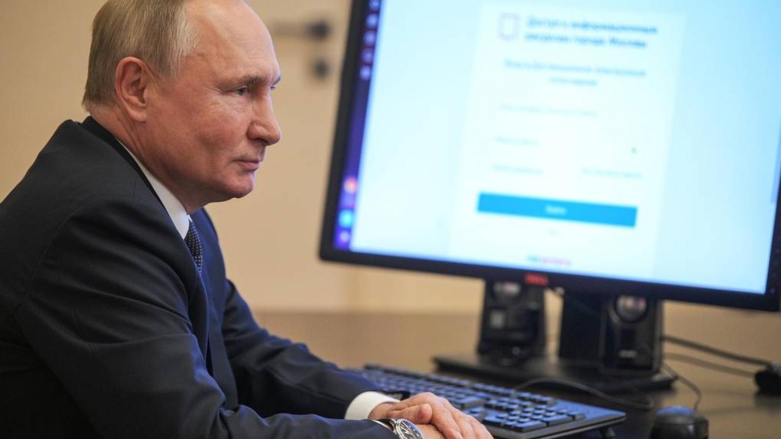 Tổng thống Nga thực hiện bầu cử Hạ viện theo hình thức trực tuyến