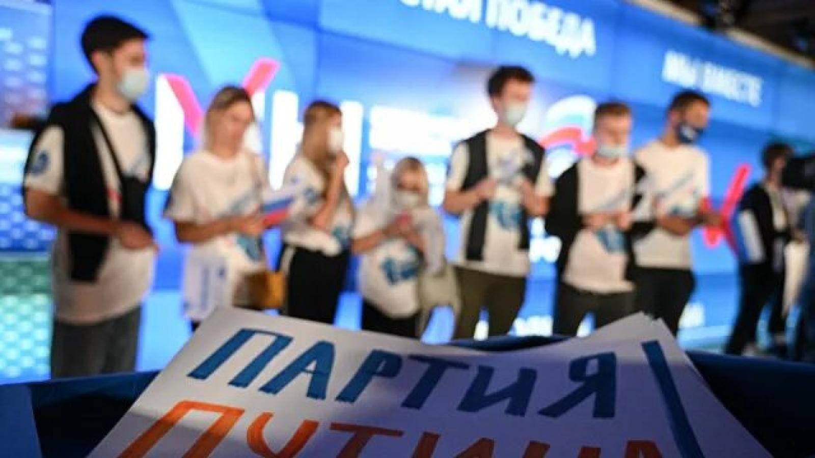 Đảng Nước Nga Thống nhất đang tạm dẫn đầu trong cuộc bầu cử vào Duma Quốc gia