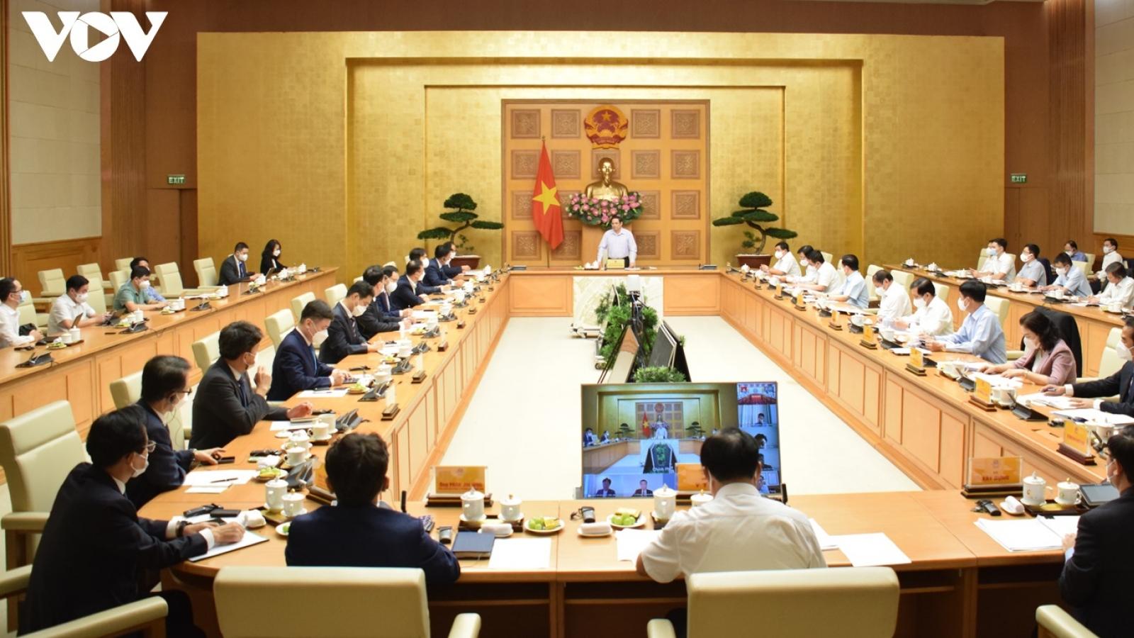 Thủ tướng làm việc với đại sứ và các doanh nghiệp Hàn Quốc tại Việt Nam