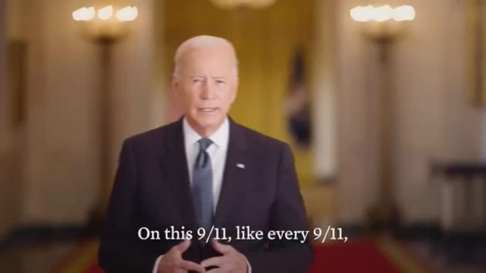 Tổng thống Mỹ Joe Biden gửi thông điệp trước lễ tưởng niệm 11/09, kêu gọi đoàn kết dân tộc