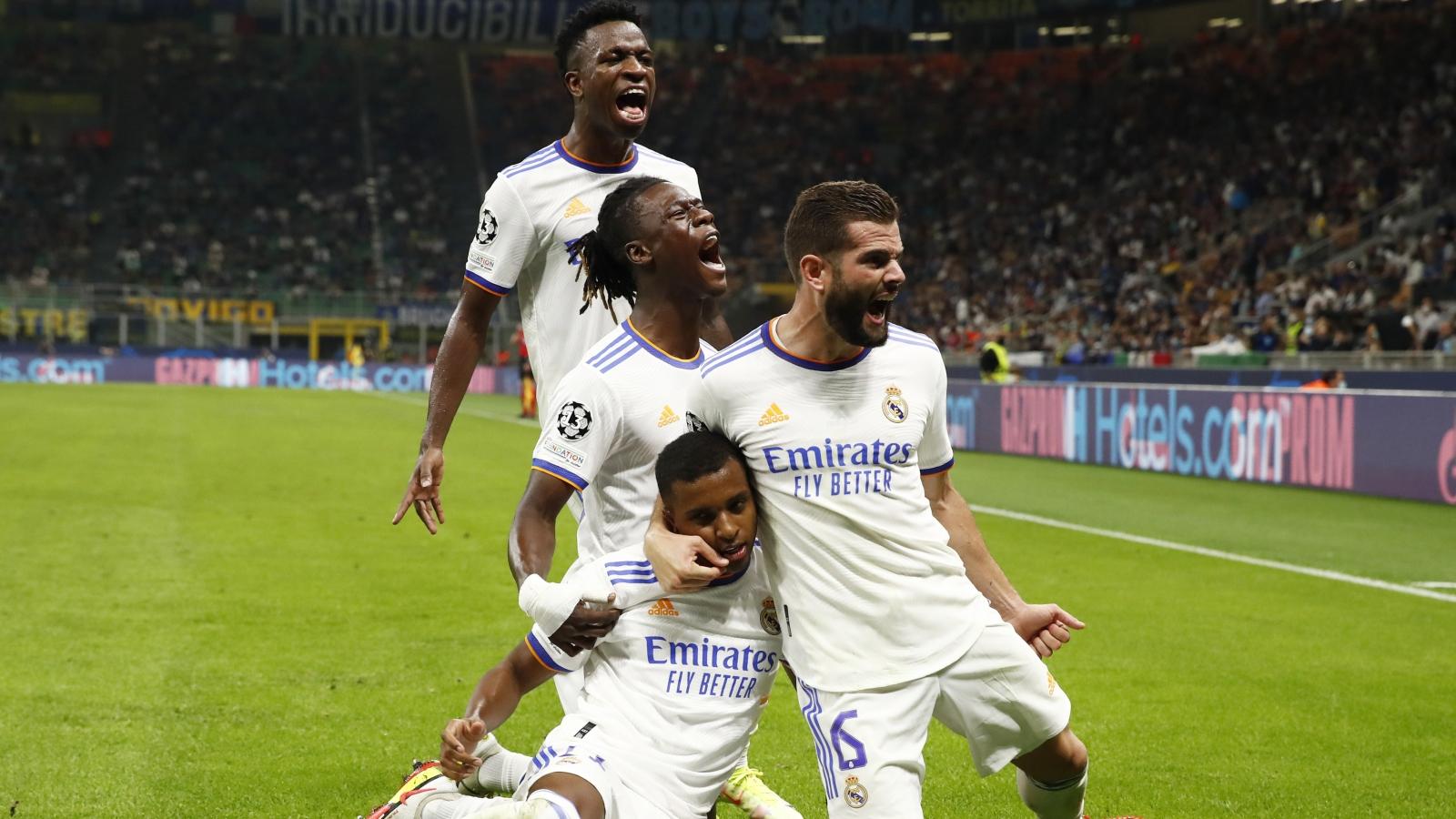 Rodrygo lập công phút 89, Real Madrid cho Inter Milan nhận trái đắng tại Giuseppe Meazza
