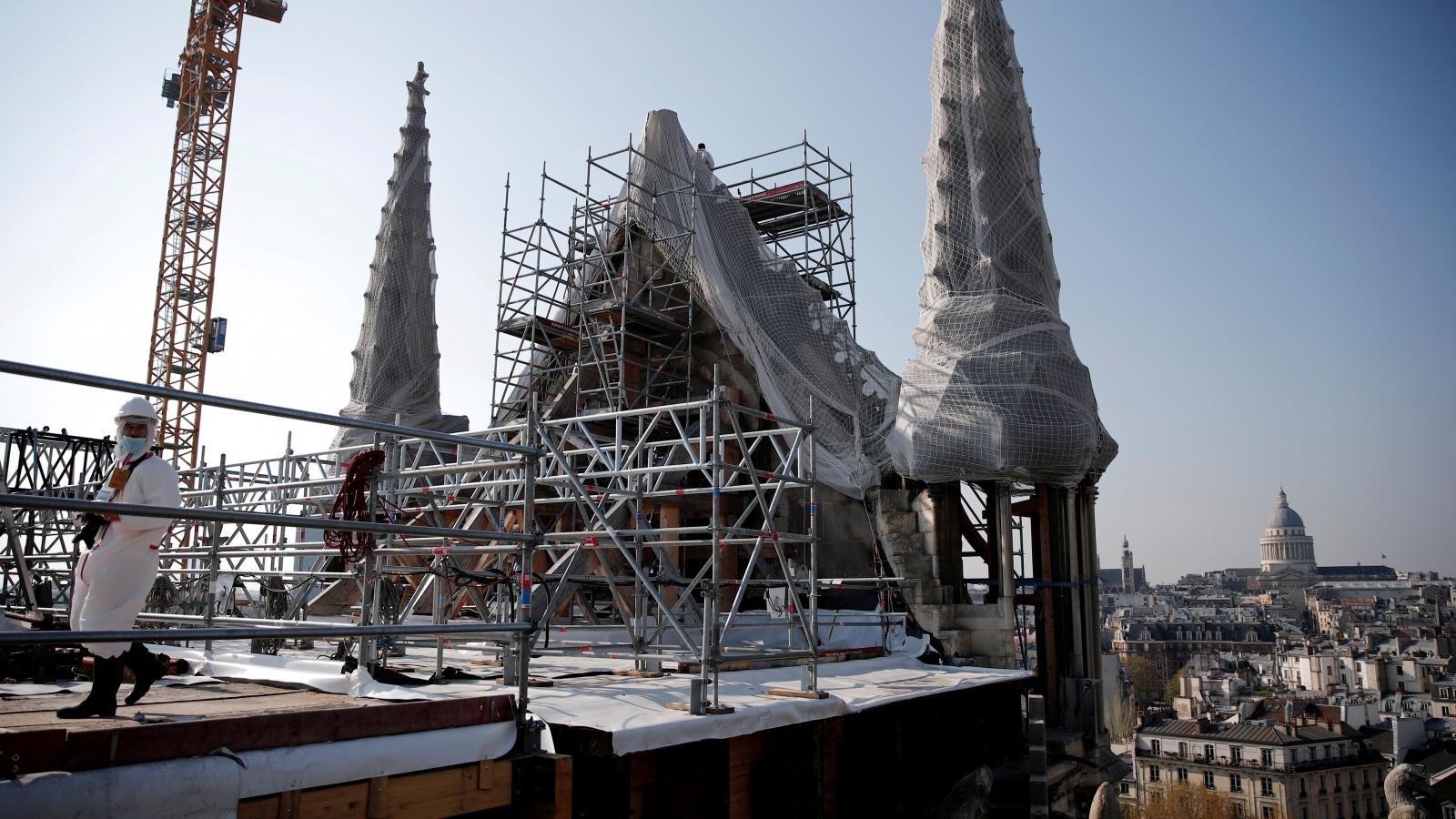 Nhà thờ Đức Bà Paris bước vào trùng tu giai đoạn cuối