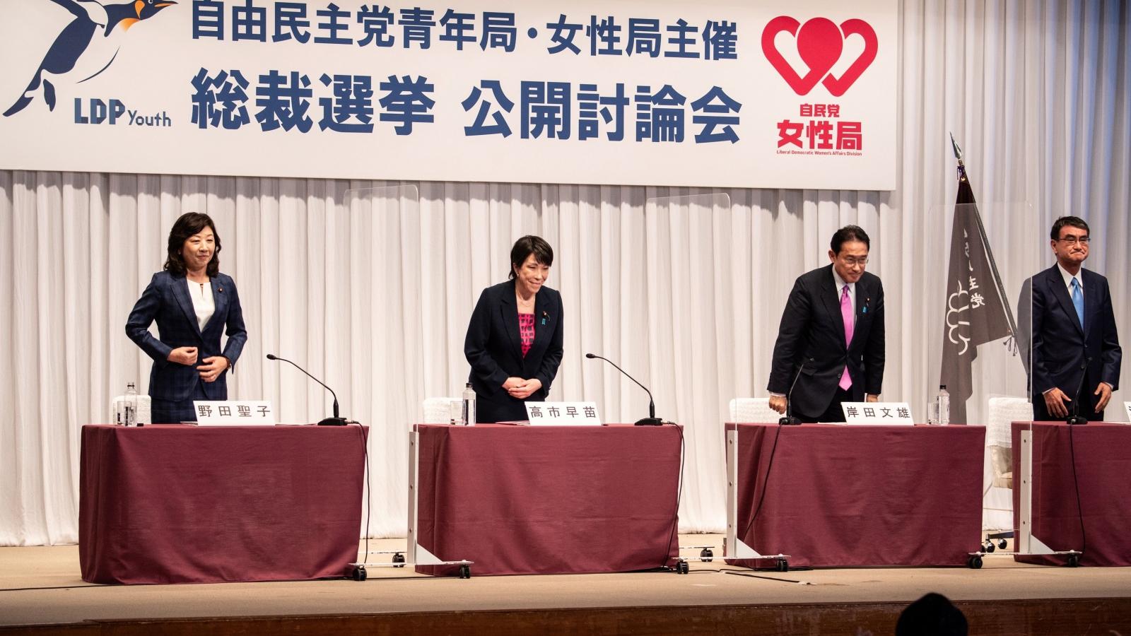 Các ứng cử viên Chủ tịch Đảng LDP cam kết tăng gấp đôi ngân sách cho trẻ em
