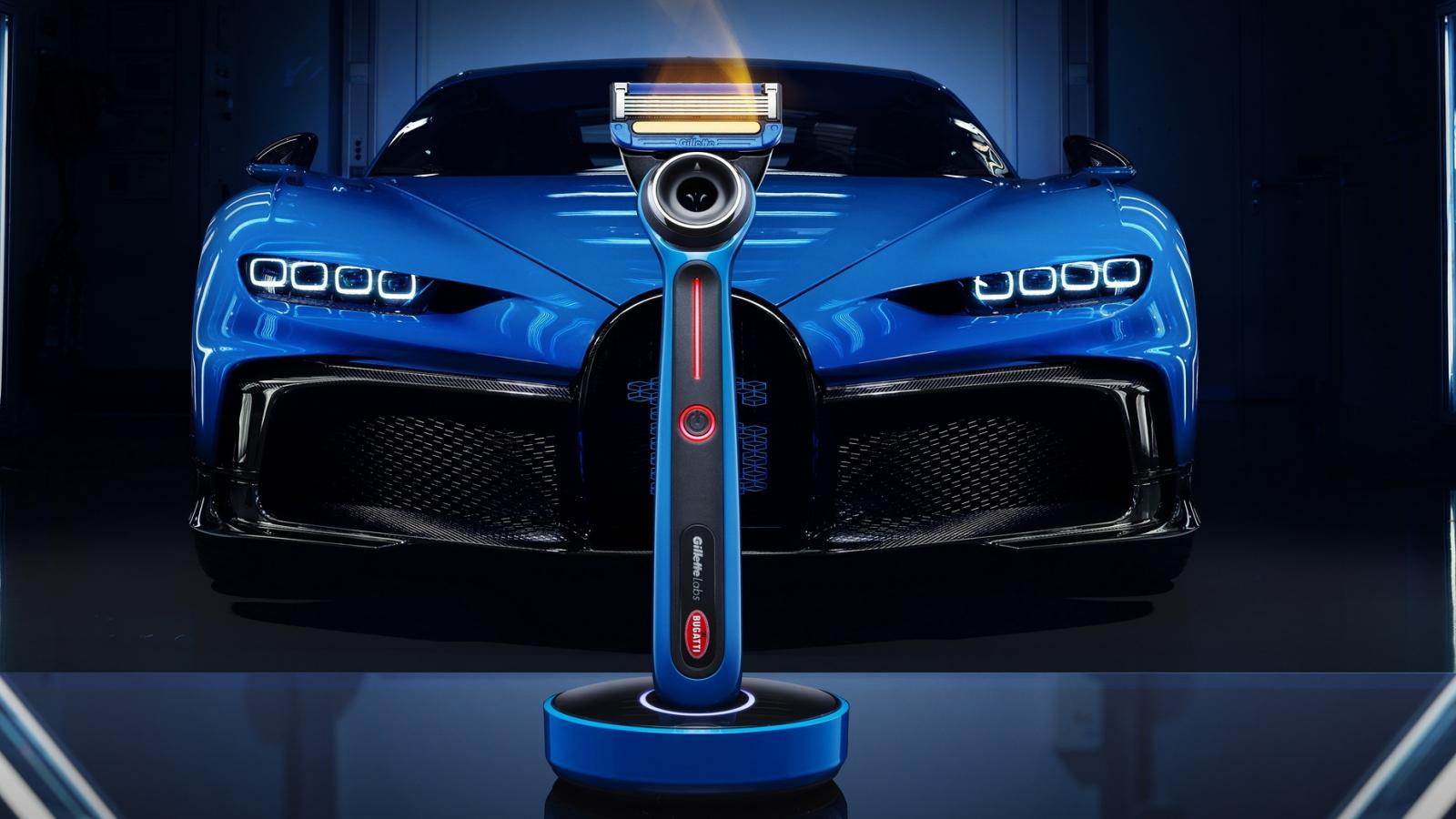 Hãng siêu xe Bugatti hợp tác cùng Gillette để làm dao cạo râu