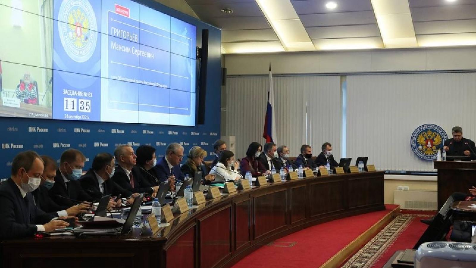 Đảng Nước Nga Thống nhất chiếm đa số trong Duma quốc gia Nga khóa mới