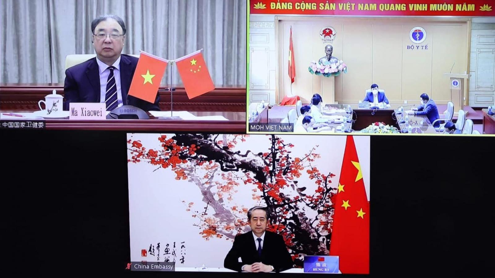 Việt Nam và Trung Quốc chia sẻ kinh nghiệm chống dịch COVID-19