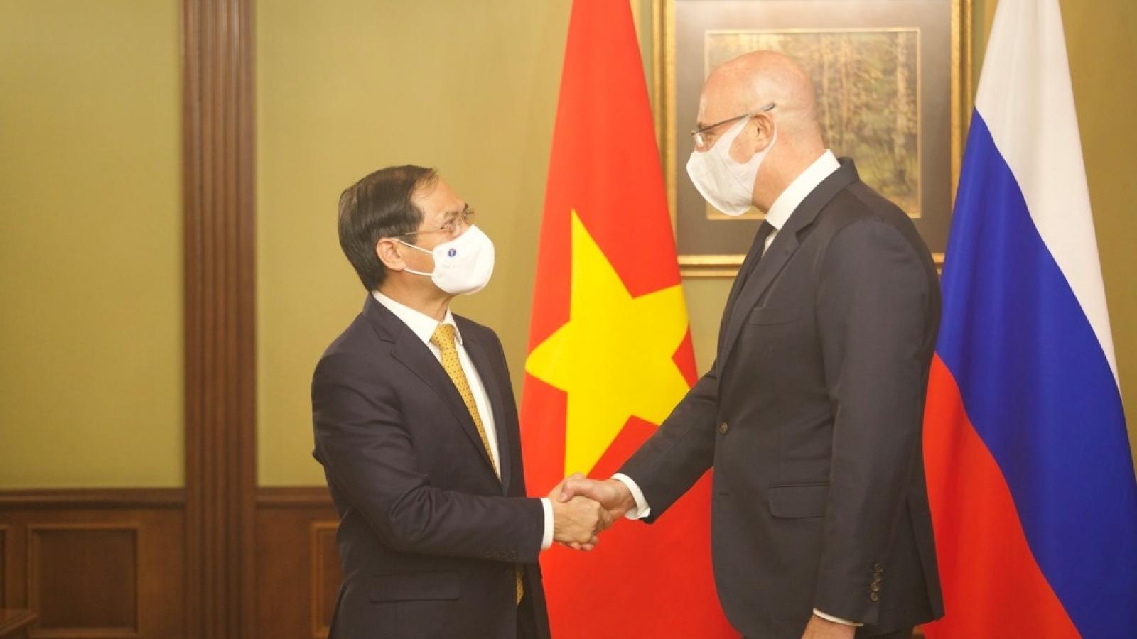 Bộ trưởng Ngoại giao Bùi Thanh Sơn hội kiến Phó Thủ tướng Nga Dmitry Chernyshenko