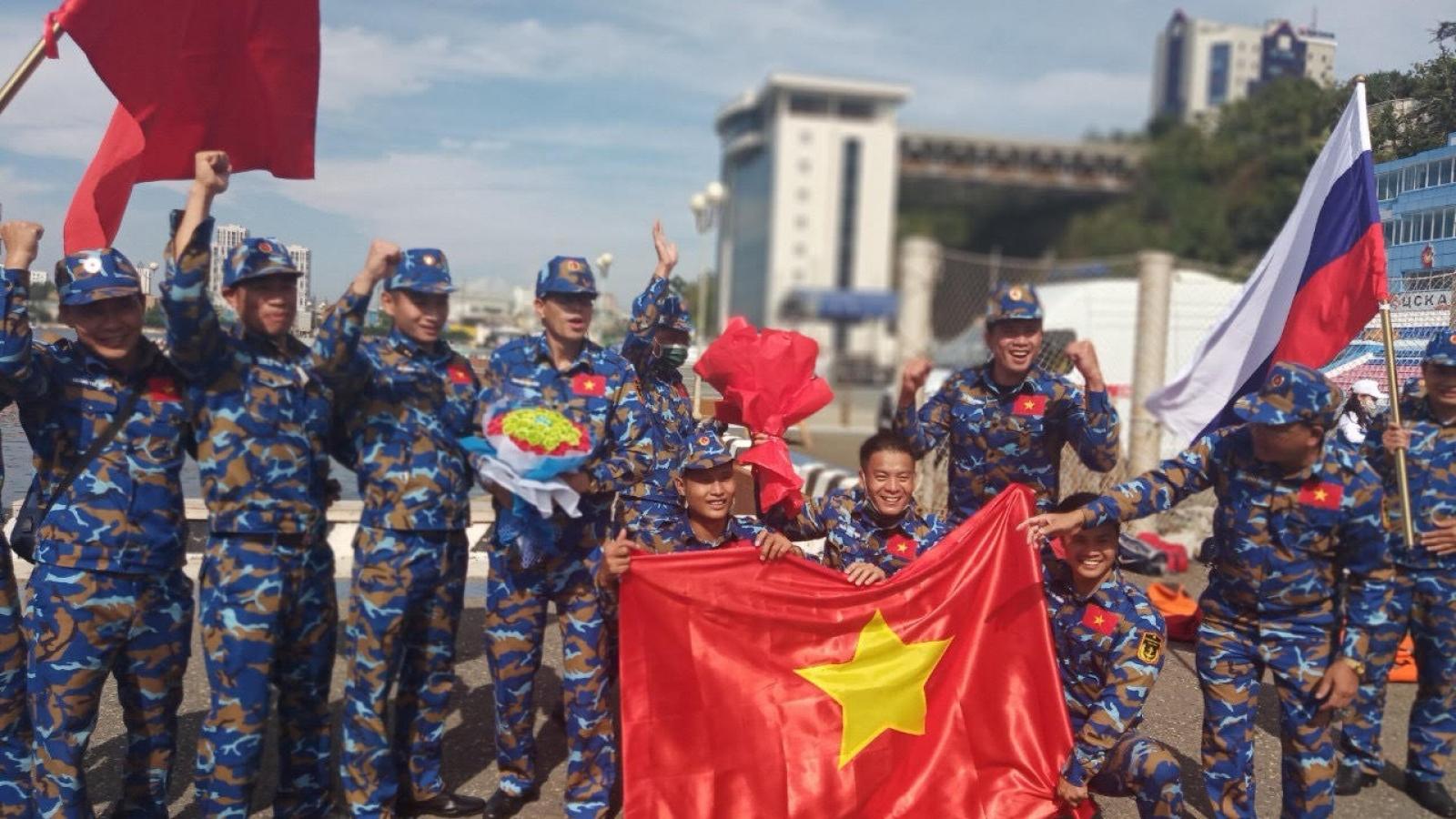Gặp gỡ các tuyển thủ Hải quân giành Huy chương Bạc tại Army games 2021