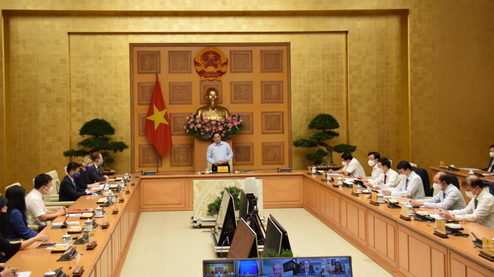 Thủ tướng Chính phủ Phạm Minh Chínhtiếp Đại biện lâm thời Đại sứ quán Hoa Kỳ