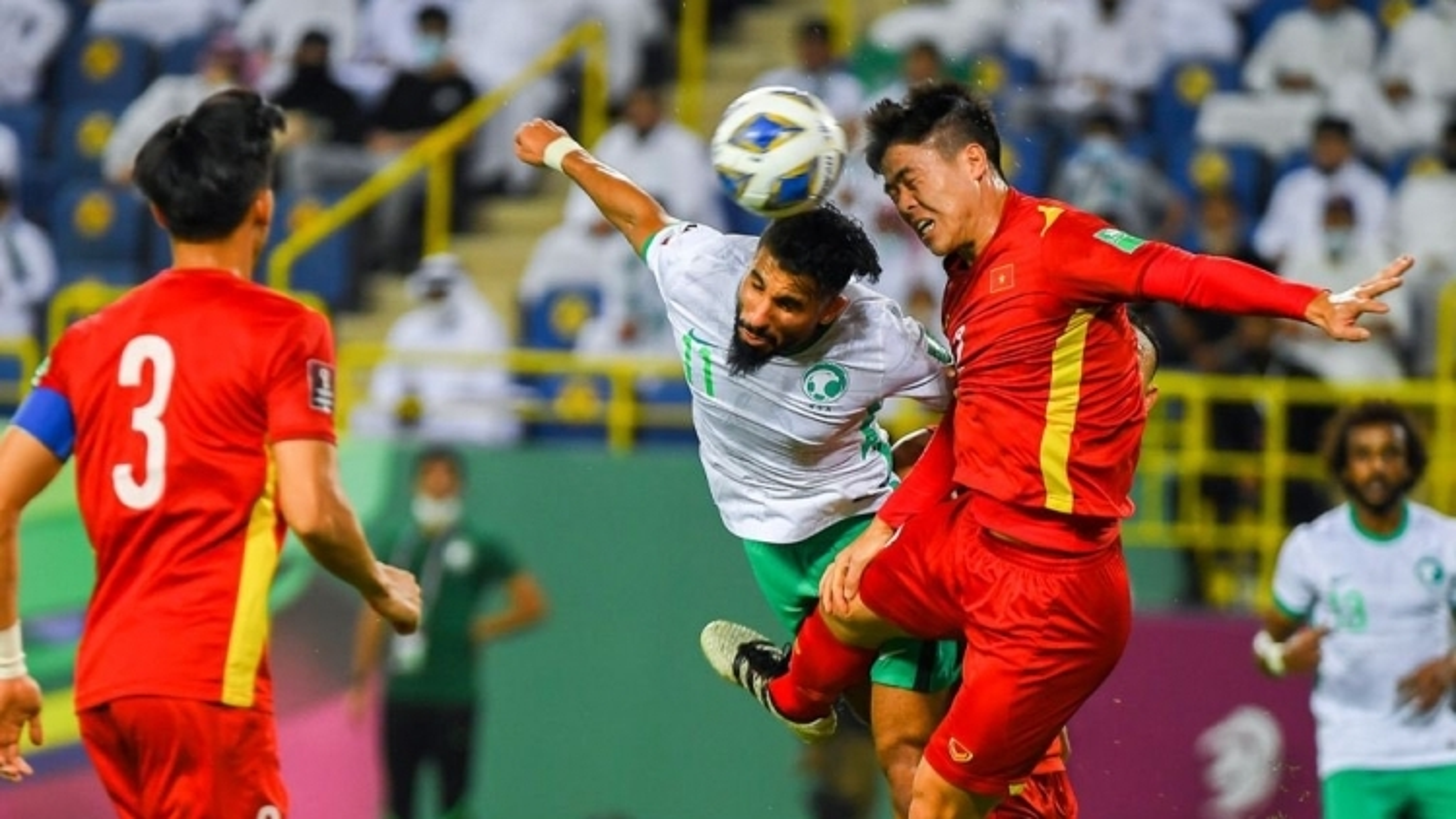 10-man Vietnam overwhelmed 1-3 by hosts Saudi Arabia in WC qualifier