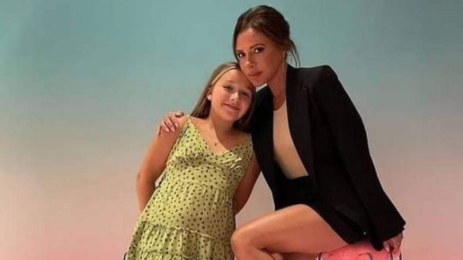 Con gái David Beckham lớn phổng phao ở tuổi lên 10