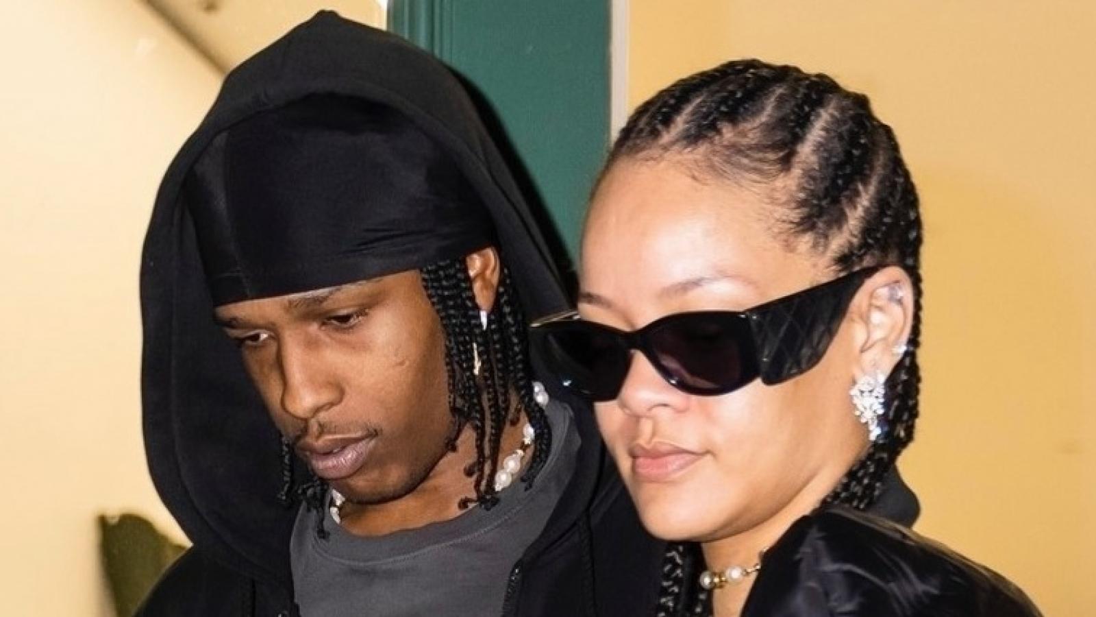 Tỷ phú Rihanna đeo trang sức sang trọng đi mua sắm cùng bạn trai rapper