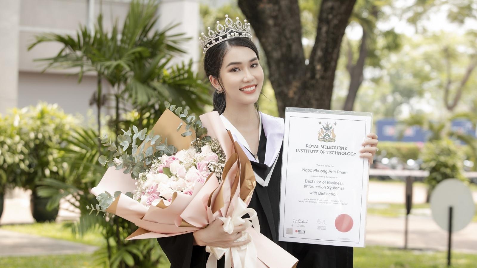 Á hậu Phương Anh xuất sắc nhận học bổng Thạc sĩ của Đại Học RMIT
