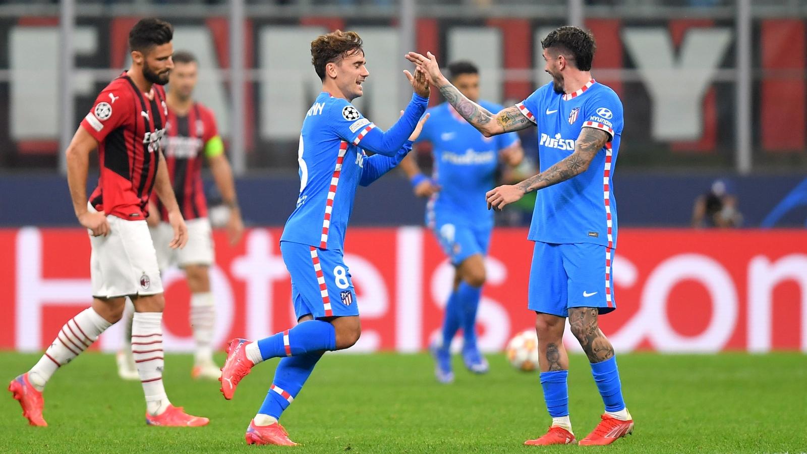 Griezmann và Suarez ghi bàn, Atletico thắng ngược AC Milan