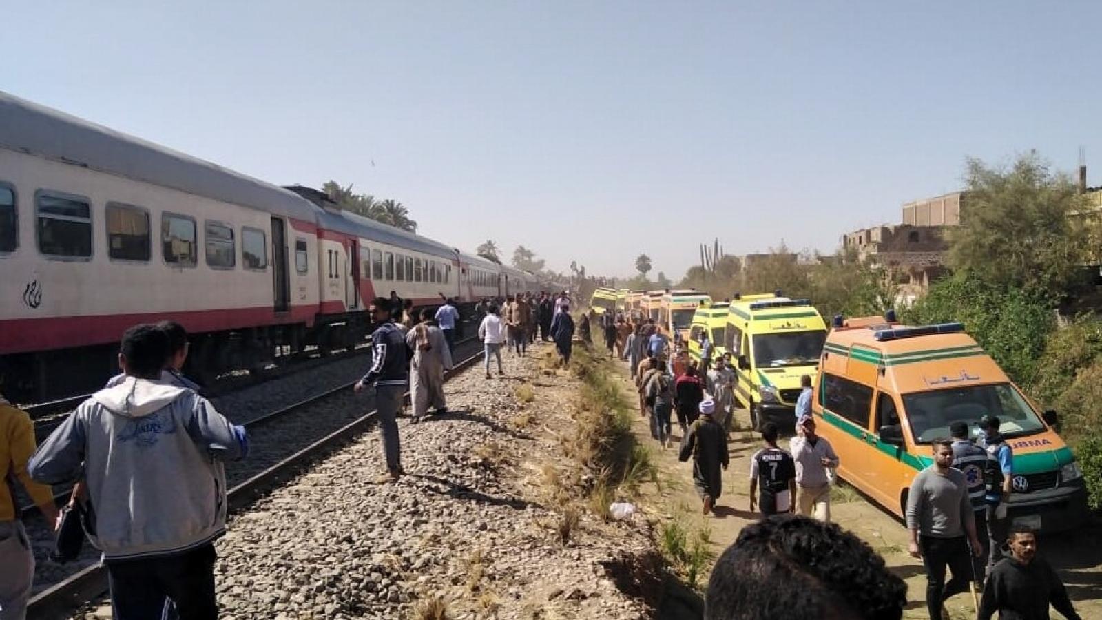 Ai Cập xét nghiệm ma túy tất cả công nhân đường sắt sau tai nạn tàu hỏa
