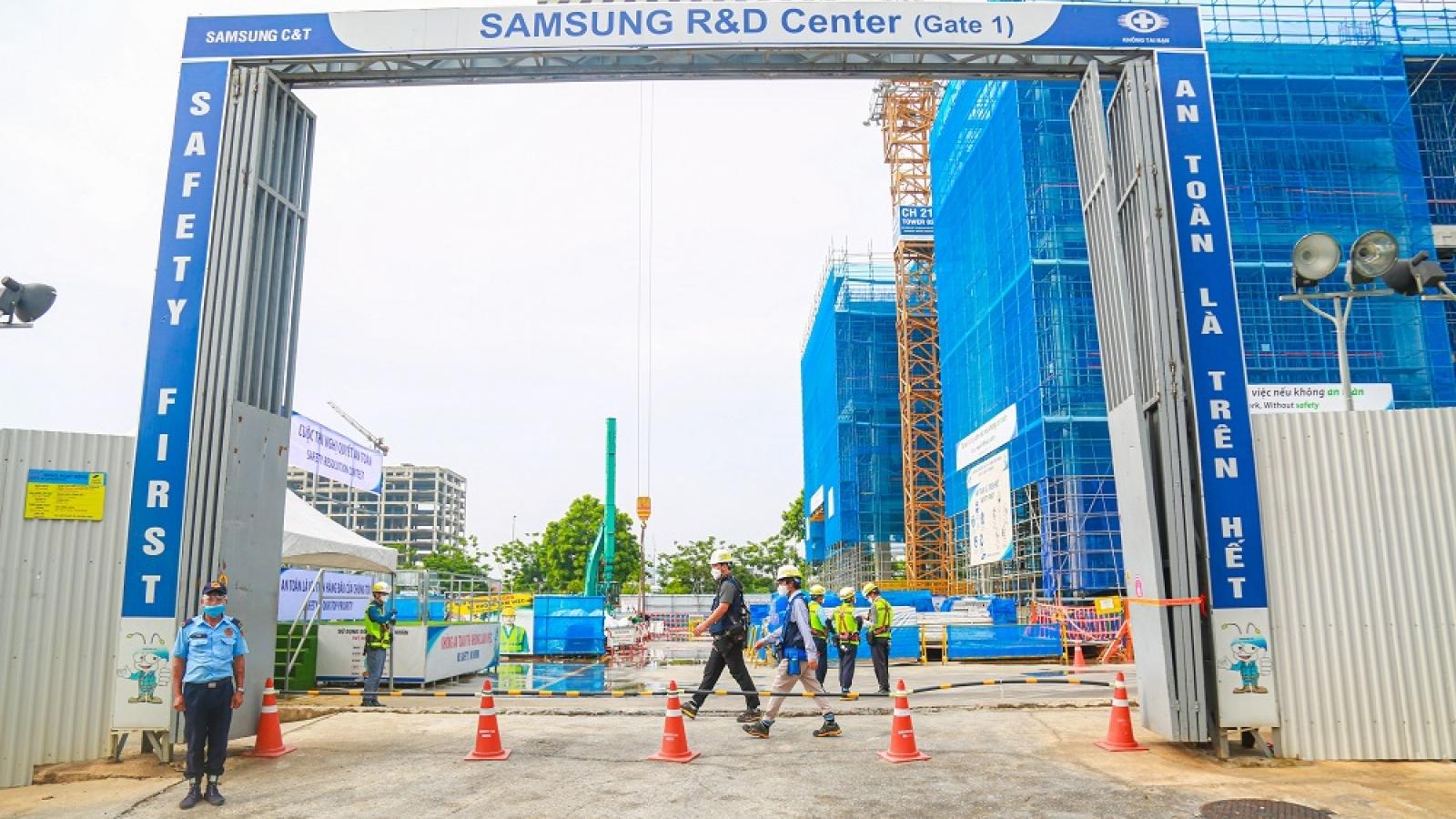 Trung tâm R&D mới của Samsung hoàn thành 50% tiến độ xây dựng