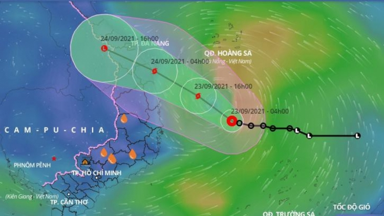 Tropical depression turns into Storm Dianmu