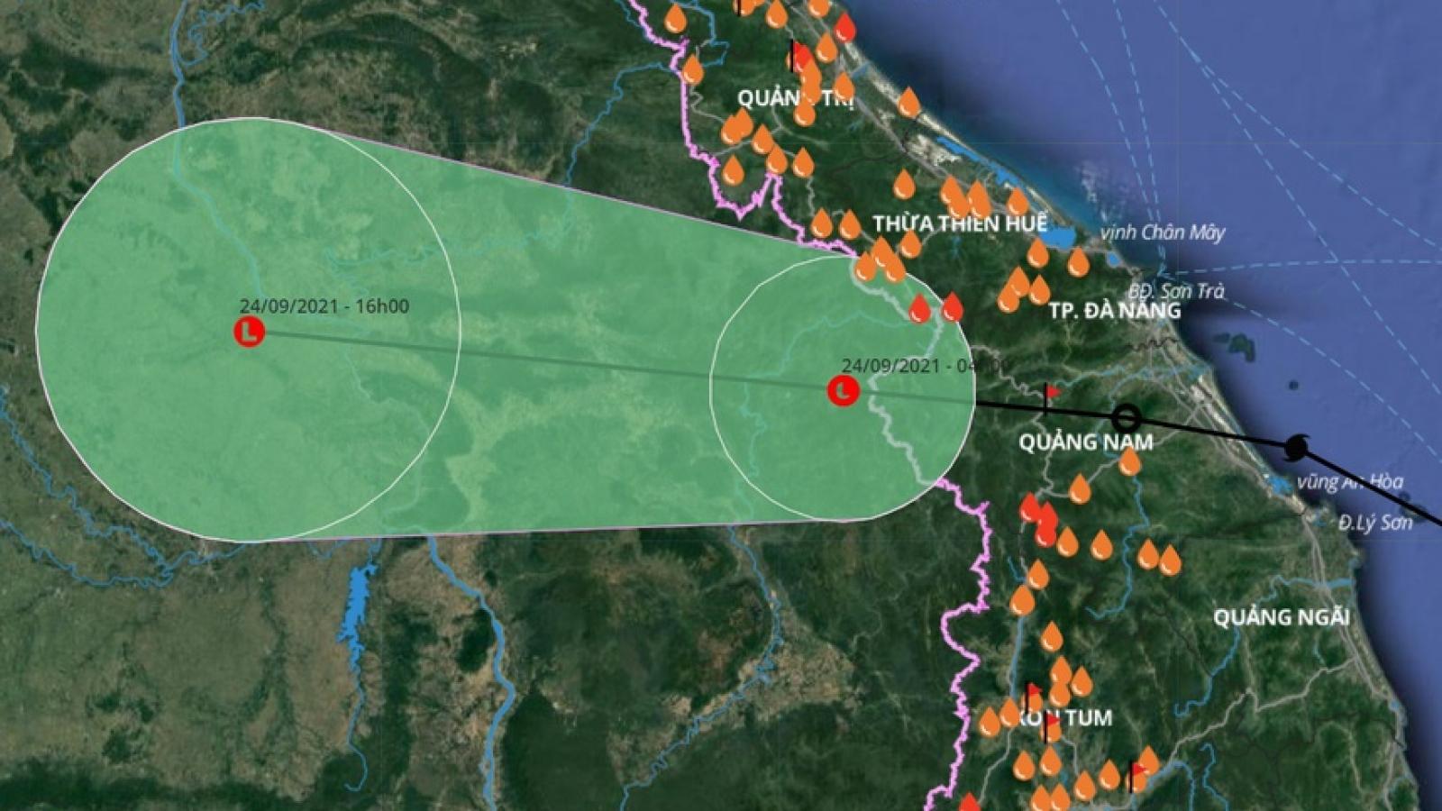 Bão số 6 suy yếu thành vùng áp thấp, mưa lớn ở các tỉnh miền Trung