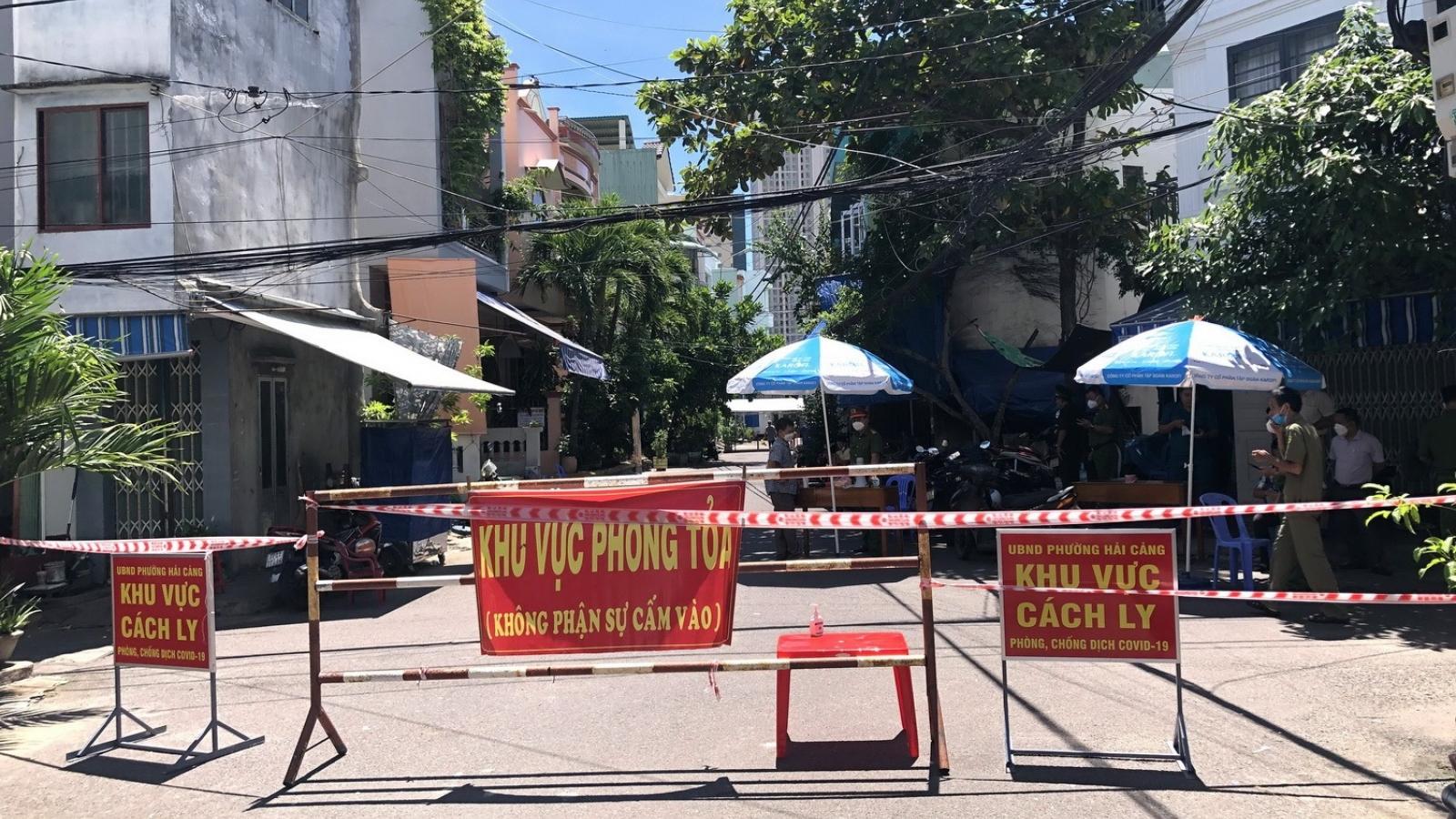 Bình Định phong tỏa 5 phường ở TP. Quy Nhơn trong 48 giờ để tách F0